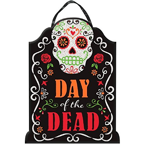 quot day of the dead quot tombstone sign wood with glitter and