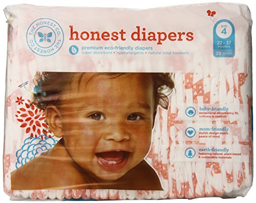 The Honest Company Diapers Size 4 - L - Giraffe - 29 count