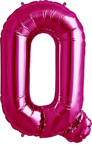 Letter Q - Magenta Helium Foil Balloon - 34 inch