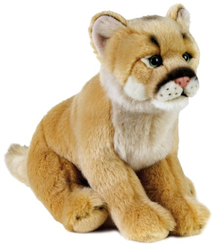 National Geographic Stuffed Animals Hand Puppet (1 Piece), Medium, Mountain Lion