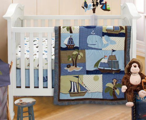 NoJo Ahoy Mate Crib Bedding Set, Multi - 1