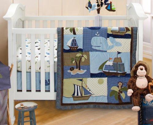 NoJo Ahoy Mate Crib Bedding Set, Multi - 1