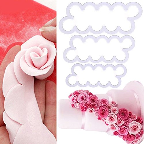 Bihood Rose Cookie Fondant Molds Fondant Cutters and Molds Silicone Molds for Fondant Mold Springerle Cookie Bowl Mold Cookie Molds Baking Silicone 3D Rose Flower Shortbread Cookie Mold (Hello Kitty Bread Mold compare prices)
