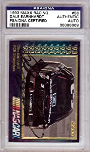 Dale Earnhardt Autographed Signed 1993 Maxx Racing Card PSA DNA #65088669 by Hollywood Collectibles