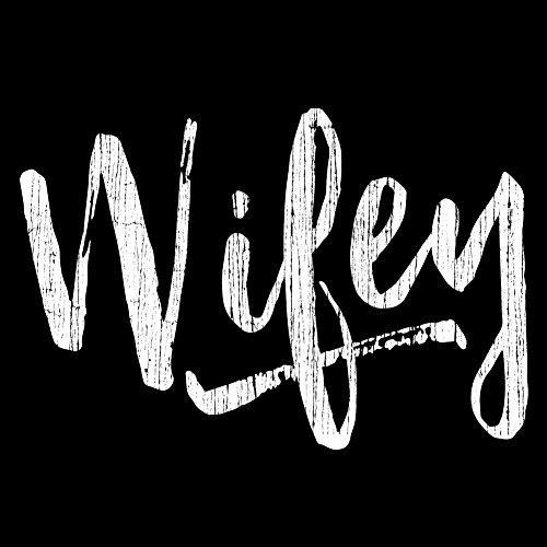 Matching T-Shirts for Newlyweds, Wifey T-Shirts, Womans Lg Black T-Shirt