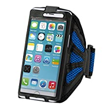 buy Kwmobile Sports Jogging Armband For Smartphones And Convenient Velcro Fastener In Blue