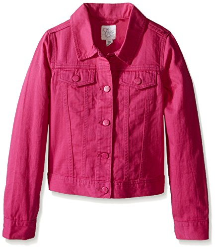The Children's Place Big Girls' Denim Jacket, Watermelon, Medium/7-8