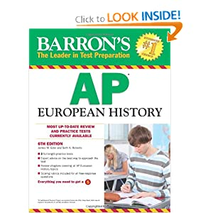 Barron's AP European History, 6th Edition by