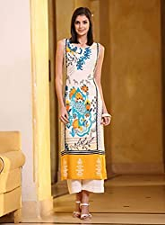 Fashion Galleria women's semi-stitched crape straight kurti