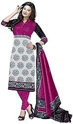 D WINE Women's Cotton Unstitched Salwar Suit (Multi-Coloured)
