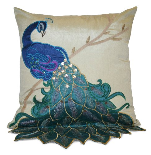 Peacock Blue Throw Pillow : Peacock Throw Pillows - Involvery Community Blog