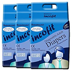 Incofit Adult Diapers (Premium)-Extra Large pack of 30