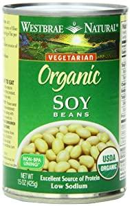 Westbrae Natural Organic Soy Beans, 15 Ounce Cans (Pack of 12)