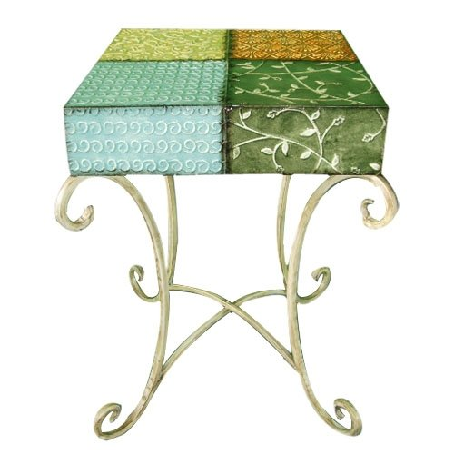 HomeView Design Square Top Side Table