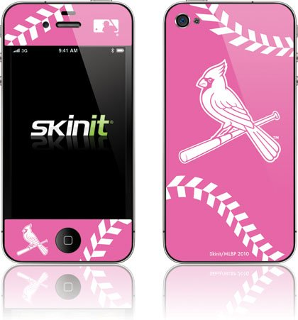 Skinit St. Louis Cardinals Pink Game Ball Vinyl Skin for Apple iPhone 4 / 4S