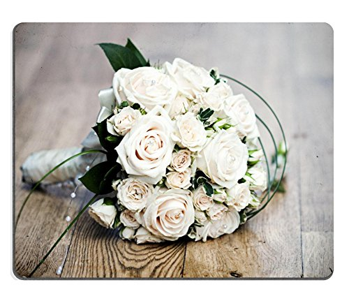 MSD Natural Rubber Gaming Mousepad Vintage photo of white wedding bouquet IMAGE 20980819