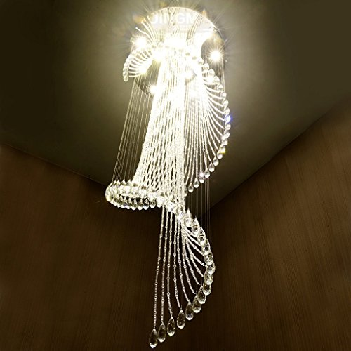 Treppen Wendeltreppe Leuchter Lampe Lange Kronleuchter Moderne Minimalist Duplex Villa Haus Boden Grosse Wohnzimmer Kristall