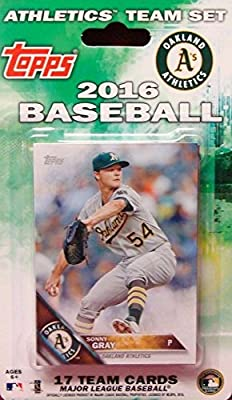 Oakland Athletics 2016 Topps Factory Sealed Special Edition 17 Card Team Set with Sonny Gray and Josh Reddick Plus