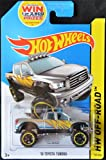 HOT WHEELS 2014 RELEASE SILVER 2010 TOYOTA TUNDRA DIE-CAST PICK UP TRUCK, HOT WHEELS 2010 TOYOTA TUNDRA