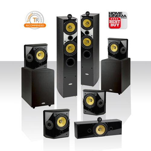"Crystal Acoustics T2-7.2 Home Theater System With Thx Ultra2 Fronts And Ultimate Performance Dual Thx-10"" Subwoofers."