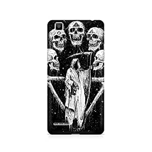 Mobicture Skull Art Premium Printed Case For Oppo F1