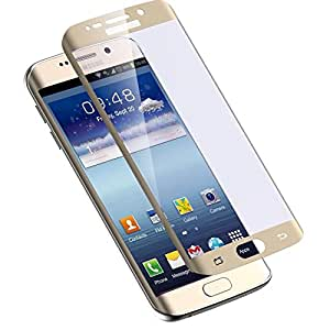 Celltone (TM) Samsung Galaxy S6 EDGE GOLDEN Premium Tempered glass and 9H hardness toughened screen protector with installation kit