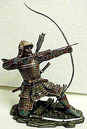 Samurai Warrior Archer Japanese Statue Martial Arts