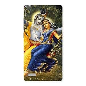 Impressive Radha Krishna Multicolor Back Case Cover for Redmi Note