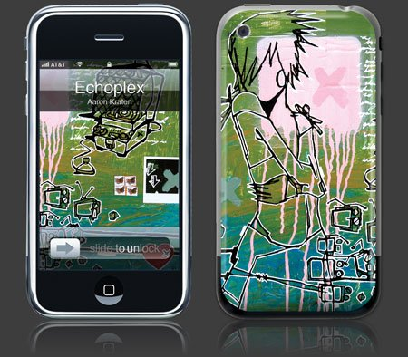 Apple iPhone Premium Vinyl Skin - Echoplex(GelaSkins Brand) Made in Canada