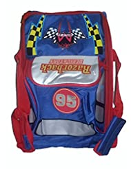 Wise Guys 2 In 1 Car Print Duffel / Backpack Bag For Kids - Blue