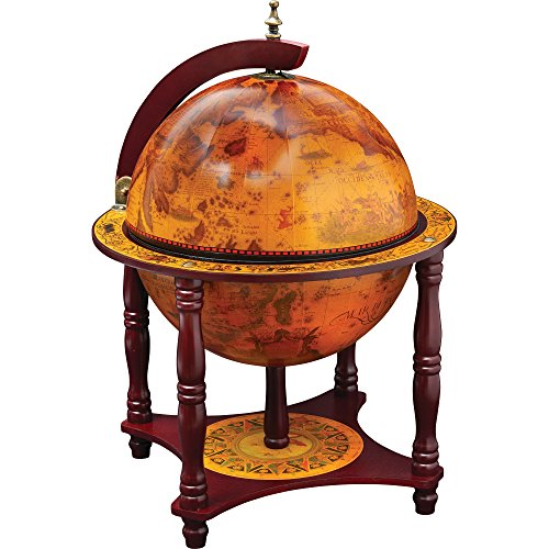 "Kassel™ 13"" Diameter Globe with 57pc Chess and Checkers Set 1"