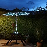 EiioX 55ft/17m LED white Solar Fairy String Lights for outdoor, gardens, homes, Christmas party 100 Picture