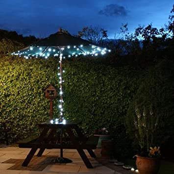 ZeeCoo LED Solar Patio Umbrella String Bulbs