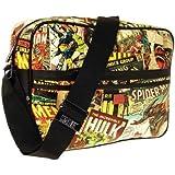 Marvel Comics Printed Comic Strip Style Messenger Bag - Official