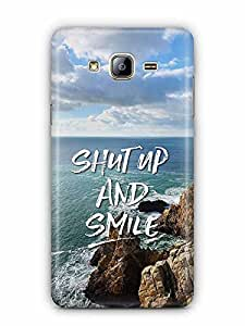 YuBingo Shut Up and Smile Designer Mobile Case Back Cover for Samsung Galaxy On 5