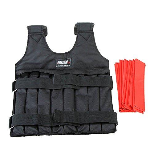 Inflagen Giacca (TM)-Gilet per allenamento da boxe regolabile di carico Max 20 kg-Giubbotto zavorrato Invisible Weightloading Clothing sabbia