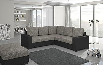 Divano da angolo Canis con sgabello angolo per il divano soggiorni Land codolo 01297