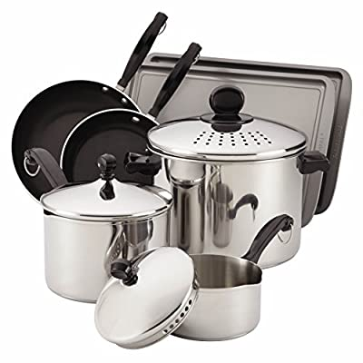 Farberware 77289 Classic 10-Piece Cook and Strain Cookware Set