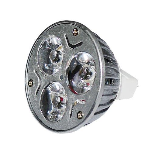 Zono® Non-Dimmable Mr16 Base Ac / Dc 12V 3X3W 9W Led Light Lamp Bulb 630-Lumen