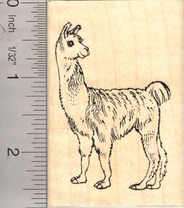 Animal Rubber Stamp - Llama Rubber Stamp