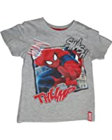 Marvel Spiderman T-Shirt Blau, Grau oder Hellblau in den Gr. 98, 104, 116, 128