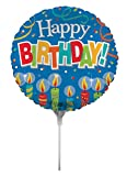 Creative Converting Air-Filled Birthday Candles Balloon with Stick and Joiner, 18