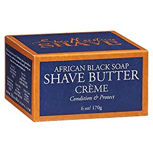 Shea Moisture, Shea Butter and African Black Soap Shave Butter Shave Cream 6 oz (Pack of 3, SEALED EACH JAR AND BOX)