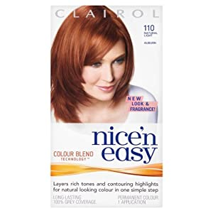 Nice'n Easy Permanent Hair Colour - No. 6R Natural Light Auburn (Former shade 110)