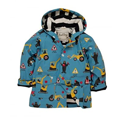 Hatley Bear Construction Raincoat, Jackets, Boys