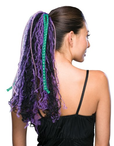 Rubie's Costume Cyber Ponytail Wig, Purple, One Size