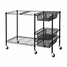 Advantus Vertiflex Mobile File Cart with 3 Drawers, 38 x 15.5 x 28 Inches, Black (VF50621)