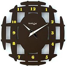 Random Ancient Wooden Wall Clock (Brown)