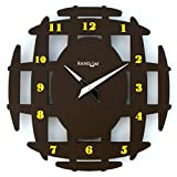 Random Ancient Wooden Wall Clock (Brown)