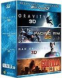 Gravity + Pacific Rim + Man of Steel + Godzilla [Combo Blu-ray 3D + Blu-ray 2D]
